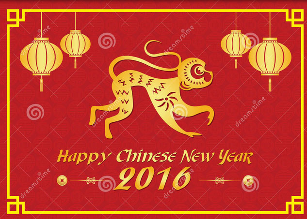 2016 Chinese New Year of monkey